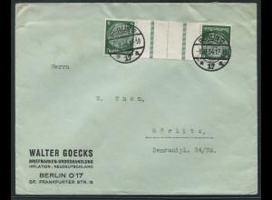 Dt. Reich, KZ 22.1, portogerechte Einzelfrankatur, Mi.-Handbuch 50,- (10792)