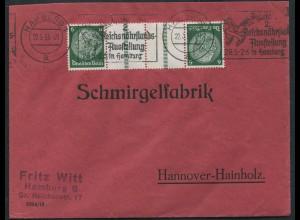 Dt. Reich, KZ 22.1, portogerechte Einzelfrankatur, Mi.-Handbuch 50,- (10809)