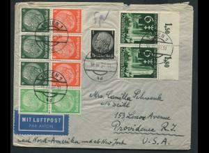 Dt. Reich, HBl. 92, Auslands-Luftpost-Brief, Ostmark, Mi. MiF 100,- ++ (11016)