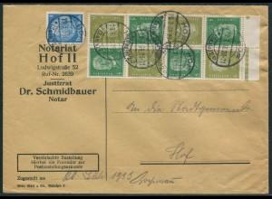 Dt. Reich, K 11 OR 1 + K 11 (3), portogerechte Zustellurkunde, Mi. 240,- (11059)