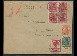 Dt. Reich, S 3, Orts-Rohrpost-Brief, Öffnungsmängel, Mi. für Brief 70,- (11210)