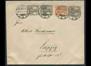 Dt. Reich, S 11 a, portogerechter Fern-Brief, gepr. BPP, Mi. 70,- (11225)