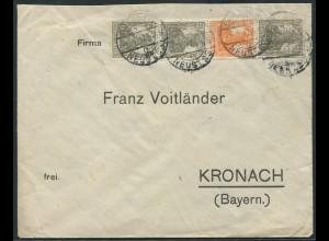 Dt. Reich, S 12 b, portogerechter Fern-Brief, gepr. BPP, Mi. 50,- (11226)