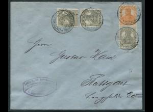 Dt. Reich, S 13 a, portogerechter Fern-Brief, gepr. BPP, Mi. 70,- (11228)