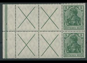 Dt. Reich, HBl. 7 a A 1.1, ungebraucht (W1.3 postfrisch), Mi. 1500,- (11256)