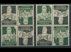 Dt. Reich, K 23 (4), zwei versch. Viererblocks, postfrisch, Mi. 100,- (11282)