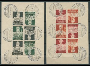 Dt. Reich, K 23-24 (je 3), Reichsparteitag-Stempel, Mi. 150,- (11288)