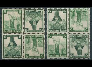 Dt. Reich, K 25 (4), zwei versch. Viererblocks, postfrisch, Mi. 48,- (11289)