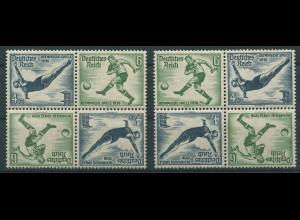 Dt. Reich, SK 27 (4), zwei versch. Viererblocks, postfrisch, Mi. 120,- (11295)