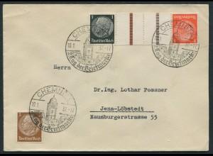 Dt. Reich, KZ 24, portogerecht auf Fern-Brief, SST, Mi. 18,- (11354)
