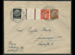 Dt. Reich, KZ 24, portogerecht auf Fern-Brief, SST, Mi. 18,- (11355)