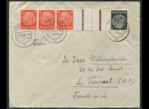 Dt. Reich, KZ 24, portogerechter Auslands-Brief (11362)