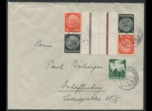 Dt. Reich, KZ 24 (2) oder S 137 (2), portogerechter Fern-Brief (11374)