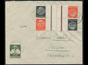 Dt. Reich, KZ 24 (2), portogerechter Fern-Brief (11375)
