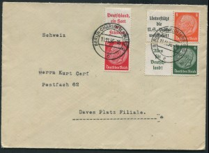 Dt. Reich, W 63, W 66, S 143 auf Auslands-Brief (11488)