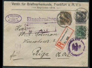 Dt. Reich, S 6, portogerechter Zensur-R-Brief, Ob. Ost (11545)