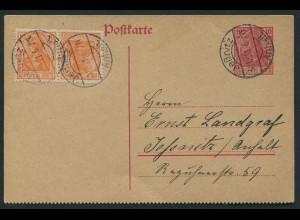 Dt. Reich, K 1, portogerechte Orts-GA-Karte, Mi. 105,- (11552)