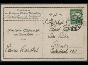 Dt. Reich, Reklame R 4, ohne Marke auf Orts-Karte (11569)