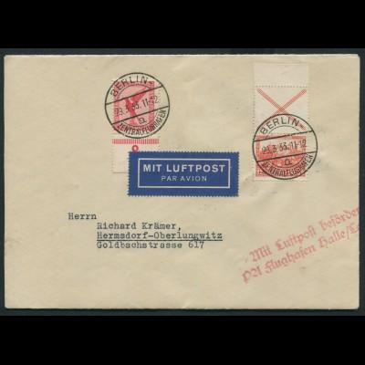 Dt. Reich, S 100 OR 1, portogerechter Luftpost-Brief, Mi.-Handbuch 50,- (11578)