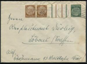 Dt. Reich, KZ 27.2, portogerechter Fern-Brief, Mi. 300,- (11812)