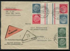 Dt. Reich, KZ 28 (2), portogerechter Nachnahme-Brief (11834)
