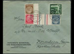 Dt. Reich, KZ 28, portogerechter Auslands-Brief (11837)