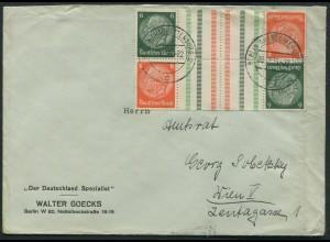 Dt. Reich, KZ 29.1 (2), Mehrfachfrankatur, Ostmark, Mi.-Handbuch 300,- (11846)