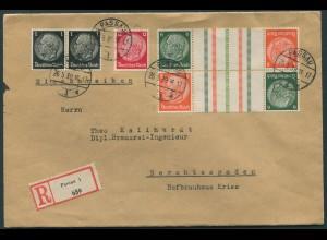 Dt. Reich, KZ 29.2 (2), portogerecht auf R-Brief (11867)