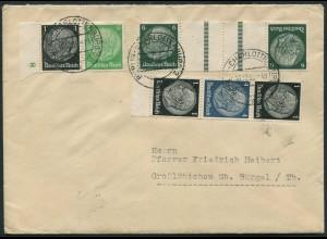 Dt. Reich, KZ 22.4, S 174, W 71, portogerechter Fern-Brief (12269)