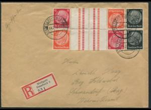 Dt. Reich, KZ 33 (2), portogerechter R-Brief (12339)