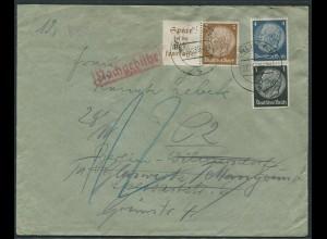 Dt. Reich, W 79 + S 171, Orts-Brief mit Nachgebühr (12582)