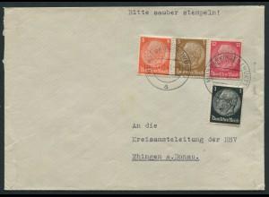 Dt. Reich, W 80, portogerechter Fern-Brief (12591)