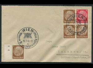 Dt. Reich, W 80, portogerechter Fern-Brief mit SST Ostmark (12592)