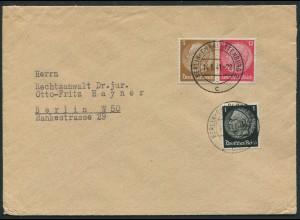Dt. Reich, W 80, portogerechter Orts-Brief (12593)