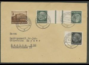 Dt. Reich, KZ 22.5, portogerecht auf Orts-Brief, Mi. 40,- (12626)