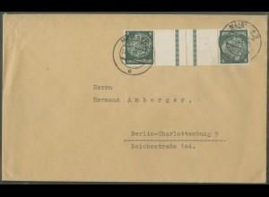 Dt. Reich, KZ 22.6, portogerechte Einzelfrankatur, Mi.-Handbuch 60,- (12631)