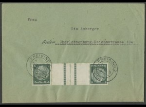 Dt. Reich, KZ 22.6, portogerechte Einzelfrankatur, Mi.-Handbuch 60,- (12634)