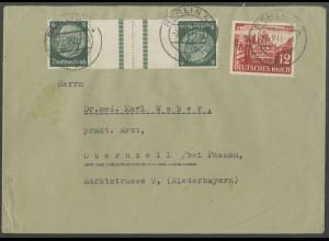 Dt. Reich, KZ 22.6, portogerechter Fern-Brief, Mi. 70,- (12635)