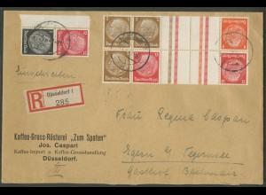Dt. Reich, KZ 23.3, KZ 34, S 149, portogerechter R-Brief (12657)