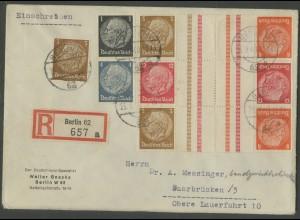 Dt. Reich, KZ 23.3 + KZ 34 (2) + S 173, portogerechter R-Brief (12659)