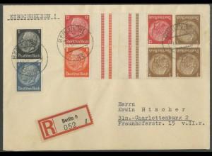 Dt. Reich, KZ 23.3, KZ 34, S 173, portogerechter Orts-R-Brief (12664)
