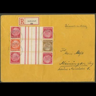 Dt. Reich, KZ 23.3 (2) + KZ 34, auf R-Brief (12665)