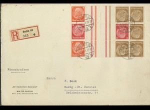 Dt. Reich, KZ 23.3 + KZ 34 (2), auf R-Brief (12666)