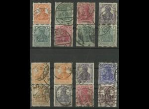 Dt. Reich, S 3 bis S 10, zehn versch. Zd. gestempelt, Mi. 645,- (12706)