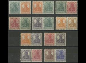 Dt. Reich, W 5 bis W 14, zehn versch. Zd. ungebraucht, Mi. 1360,- (12711)