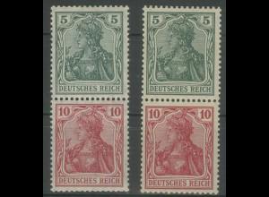 Dt. Reich, S 4 I + S 4 II, postfrisch, Mi. 190,- (12714)