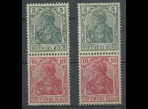 Dt. Reich, S 4 I + S 4 II, ungebraucht, Mi. 95,- (12716)