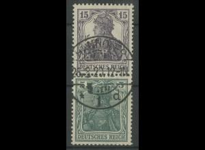 Dt. Reich, S 6, gestempelt, Topp-Zähnung, gepr., Mi. 220,- (12721)