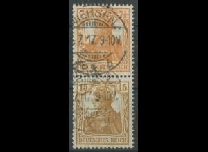 Dt. Reich, S 7 aa, gestempelt, Topp-Zähnung, gepr. BPP, Mi. 250,- (12723)