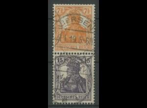 Dt. Reich, S 8 aa, gestempelt, gepr. BPP, Mi. 300,- (12728)